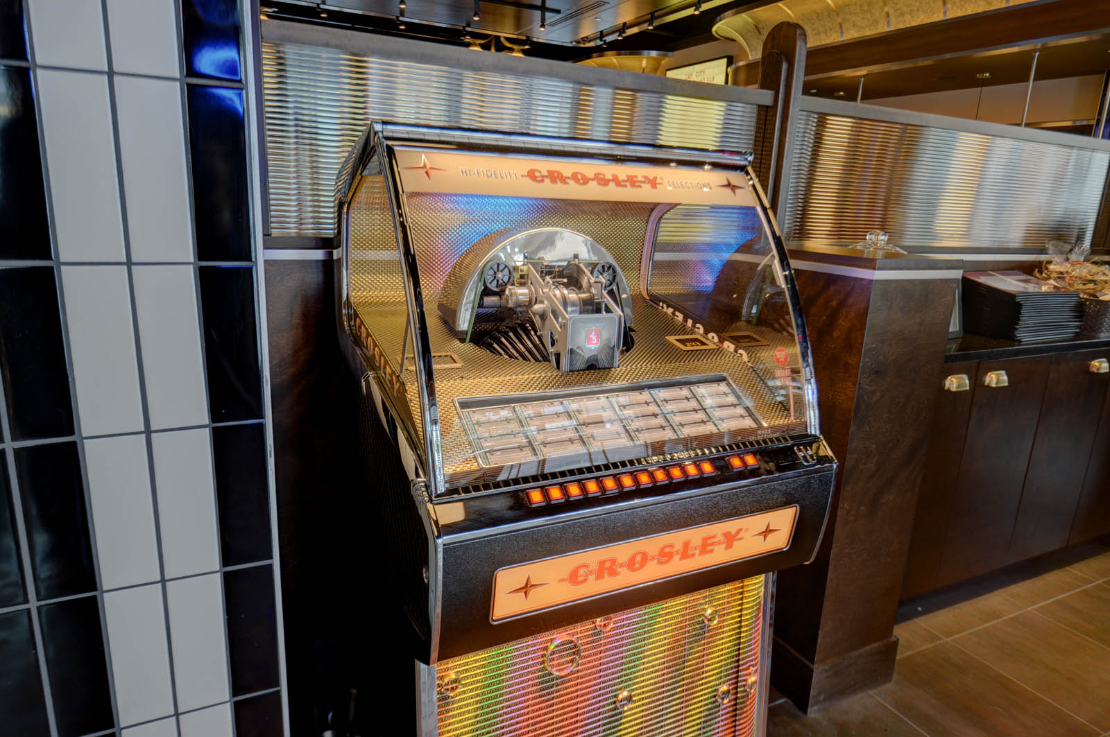 The juke box inside Cap City