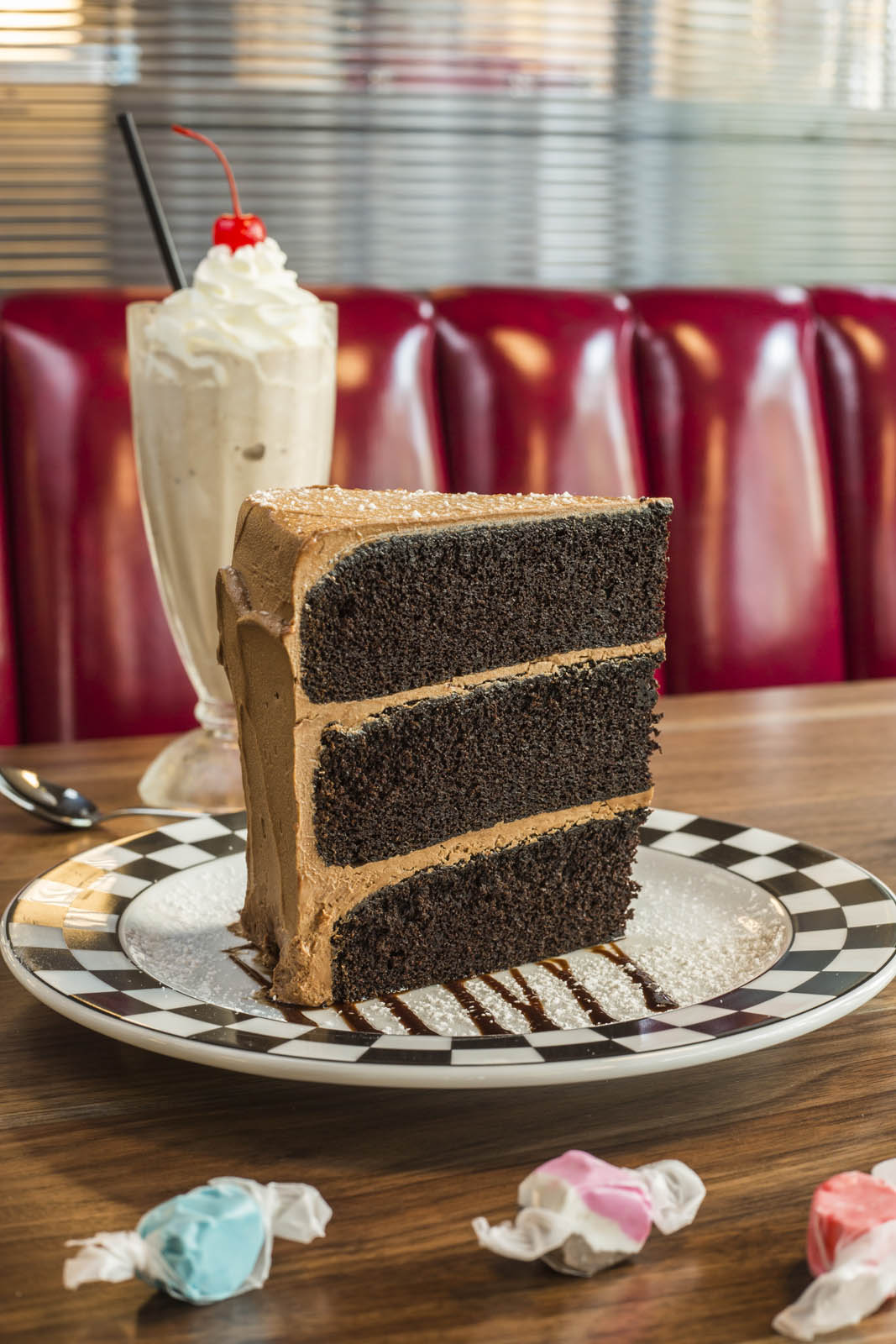 Cap City's famous seriously big chocolate cake