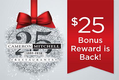 Cameron Mitchell Bonus Gift Cards